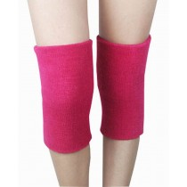 Sports Kneepad Warmer Knee Brace Sleeve, Free Size, Rose-red