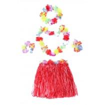 Lovely Skirt Girls Skirts Performance Props Grass Skirts Red