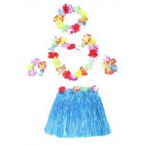 Blue Dress Costumes For Girls Hawaiian Grass Skirt Children