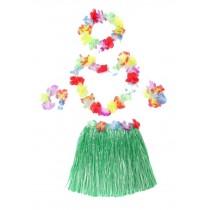 Beautiful Dress Costumes For Girls Hawaiian Grass Skirt Green