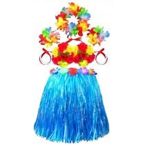 Wedding Flower Girl Dress Skirts Hawaiian Skirts Bright Skirt Blue