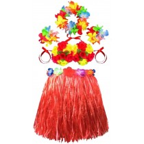 Costumes Kindergarten Performances Costumes Hula Clothing Red