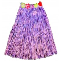 Adult Hawaiian Hula Costume Elastic Grass Skirts Dance Purple