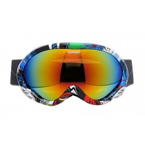 Adult's Ski Goggles Sports Mountaineering Anti-fog Goggles Lovers Snow Goggle F
