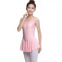 Soft Women's Sleeveless Ballet Dance Leotards PINK, XL(Asian Size)