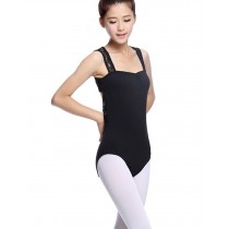 Adult Lace Sleeveless Ballet Dance Leotards BLACK, XL(Asian Size)