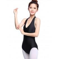 Girls Women Sleeveless Ballet Dance Leotards BLACK, L(Asian Size)