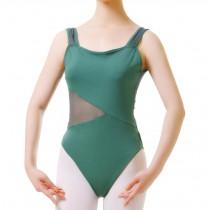 Hot Sale Adult Sleeveless Ballet Dance Leotards Dark GREEN, XL(Asian Size)