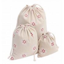 Set of 3 Canvas Creative Travel Sports Storage Drawstring Bags High Quality