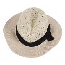 Elegant Lady Summer Straw Hat Fashion Beach Hat Wide Brim Hat Bucket Hat