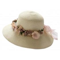 Summer Beach Hat Large Brimmed Hat Leisure Beige
