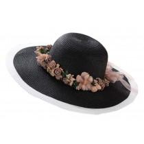 Black And White Hat Beach Hat Summer Beach Hat