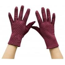 Simple Series Cotton Gloves Fashion Outdoor Gloves Keep Warm Gloves Wine Red