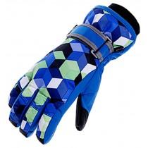 Winter Ski Gloves Outdoor Warm Gloves Fashion Men skiing Gloves Blue