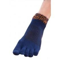 Mens Blue Cool Sport Low Cut Five Toes Socks Five Fingers Socks 1 Pairs