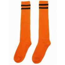 Breathable Football Game Socks Knee Length Socks For Kids, Orange