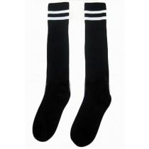 Breathable Football/ Basketball Socks Knee High Socks For Kids, Black