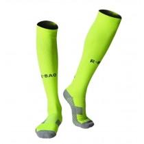 Lightweight Running Socks Men's Soccer Elite Socks Knee Socks Fluorescent Green