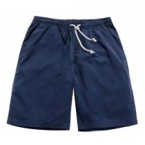 Men's Fashion Quick Dry Beach Shorts Dark Blue