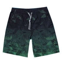 Fashion Quick-Drying Gradient Printing Beach Shorts For Men