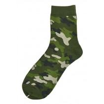 Set Of 2 Creative Camouflage Socks Cotton Socks Men Socks Sports Socks Green