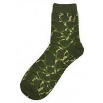 Set Of 2 Creative Camouflage Socks Cotton Socks Sports Socks Army Green
