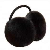 Soft Plush Earmuffs Ear Warmer Winter Earwears Black
