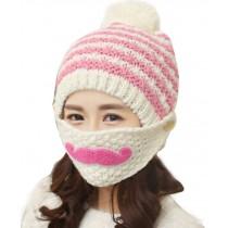 Outdoor Hat Female Han Edition Tide Beard Hat In Winter Tab Milk White