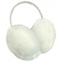 Pearl Earmuffs Lovely Plush Earmuff Ear Protection Purplish White