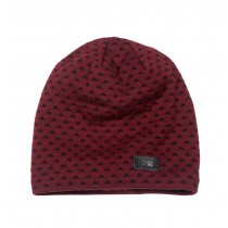 Men's Hat Wool Hat Knitted Hat Winter Cap Beanie for Men Red