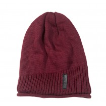 Simple Style Winter Cap Wool Hat Knitted Hat Beanie for Men Red
