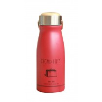 Retro Vacuum Cup Creative Cup Student Water Bottle Stainless Steel Red