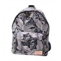 Leaves Print Shoulder Bag Ethnic Travel Bag Students' Bags Gray