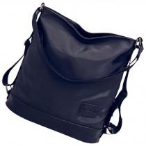 Oxford Cloth Shoulder Bag Dual Shoulder Waterproof Schoolbags Black