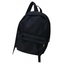 Solid Color Simple Nylon Canvas Bag Backpack Simple Backpack Black