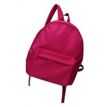 Solid Color Simple Nylon Canvas Bag Backpack Simple Backpack Rose