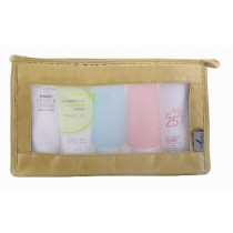 Quick Dry Mesh Shower Caddy Shower Tote Shower Bag for Travel, Golden