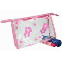 Waterproof Shower Tote Shower Bag Portable Cosmetic Bag for Travel, Pink