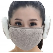Practical Lovely Cotton Winter Outdoor Cycling Masks Ski Mask Warm Mask Gray