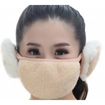 Practical Lovely Cotton Winter Outdoor Cycling Masks Ski Mask Warm Mask Beige
