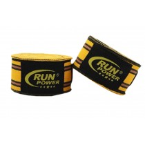 Professional Boxing Elastic Bandage Yellow and black stripes Boxing Wraps A Pair