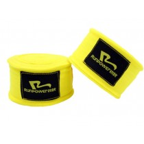 Professional Boxing Elastic Bandage Strength Boxing Wrap Hand Wrap Yellow A Pair