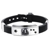 12 Zodiac Bracelets Titanium Steel Hand Ring Wristbands - Libra