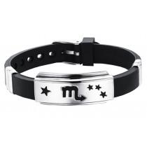 12 Zodiac Bracelets Titanium Steel Hand Ring Wristbands - Scorpio