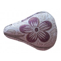 Children's Bicycle Seat Cover Cushion Cover Double Linen Seat Cover Purple