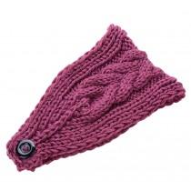 Stylish Knitted Hairband Wool Headbands Winter Sport Headwrap Purple