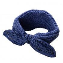 Blue Bowknot Cute Knitted Hairband Wool Headbands Sport Headwrap