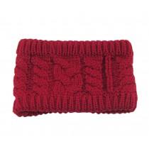 Knitted Hairband Wool Headbands Sport Headwrap Warm Headband Red
