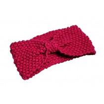 Broadside Bow Rose Knitted Hairband Wool Headbands Cute Sport Headwrap