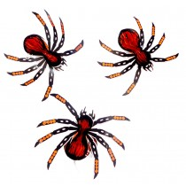 Set of 6 Halloween Party Decorations Property Hanging Ornaments, Spider